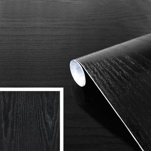 Rouleau adhésif bois noir