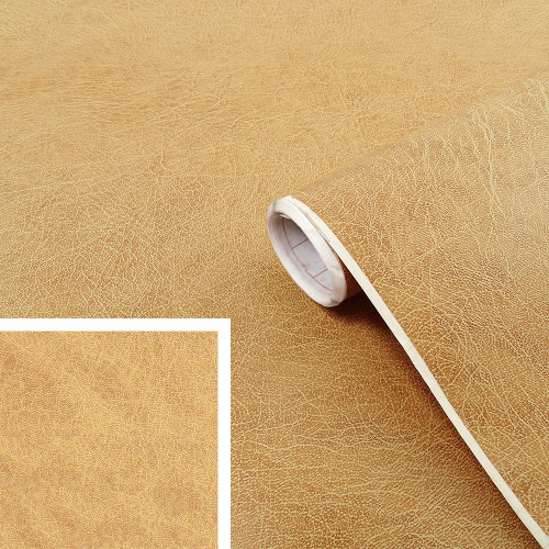 Rouleau adhésif imitation cuir beige