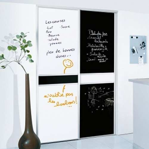 adhesif mural sticker tableau blanc. Black Bedroom Furniture Sets. Home Design Ideas