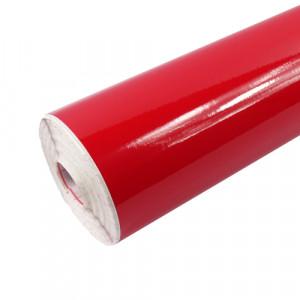 Rouleau adhésif brillant rouge