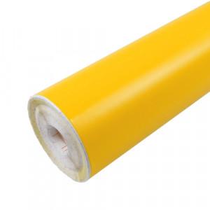 Rouleau adhésif mat jaune