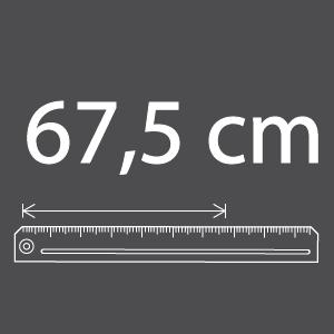 Largeur 67.5cm